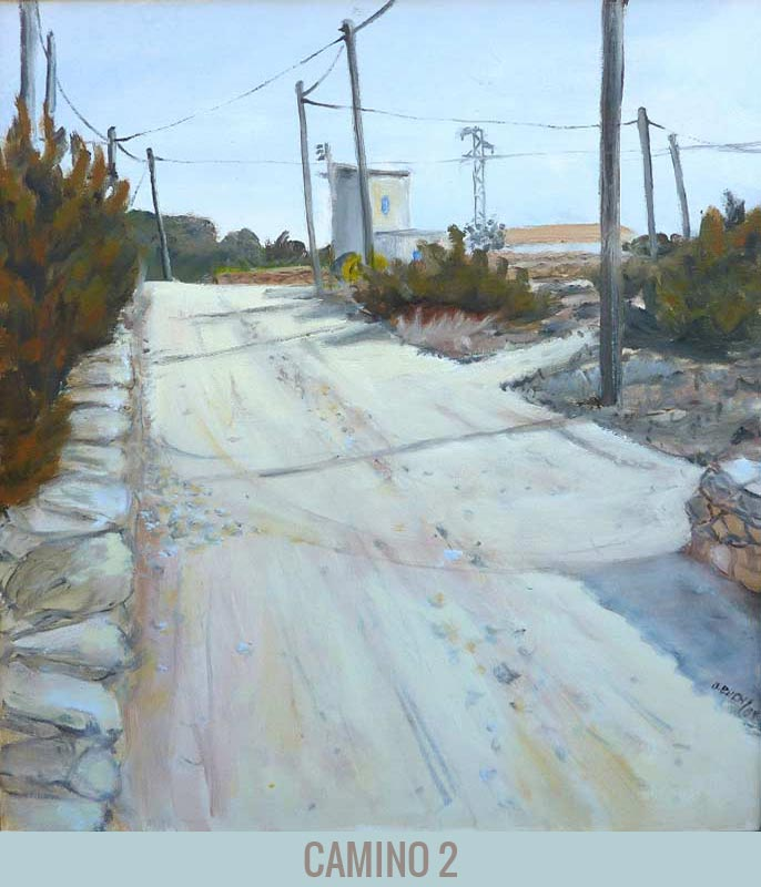 Camino 2, Orson Buch's oil on canvas