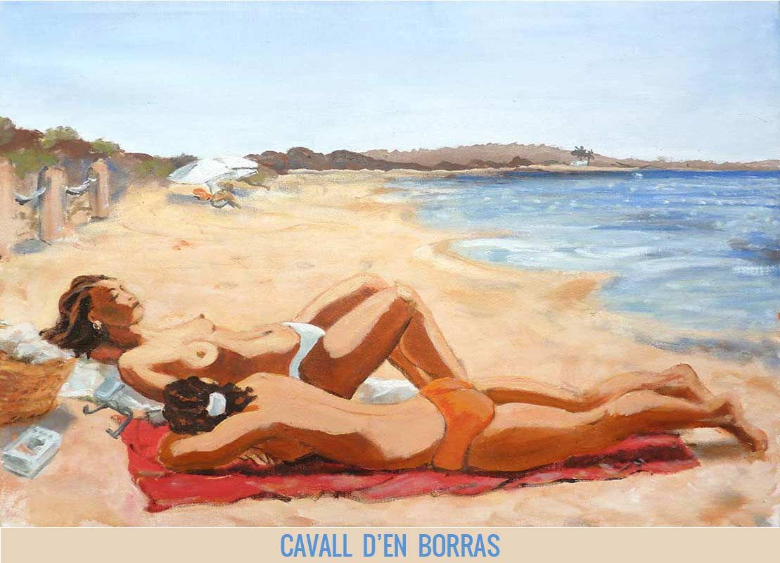 Cavall d'en Borras, Orson Buch's oil on canvas