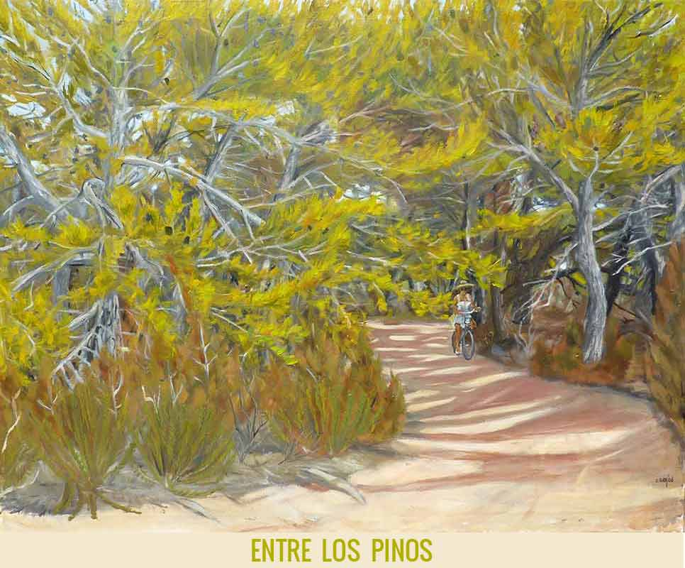 Entre los pinos, Orson Buch's oil on canvas