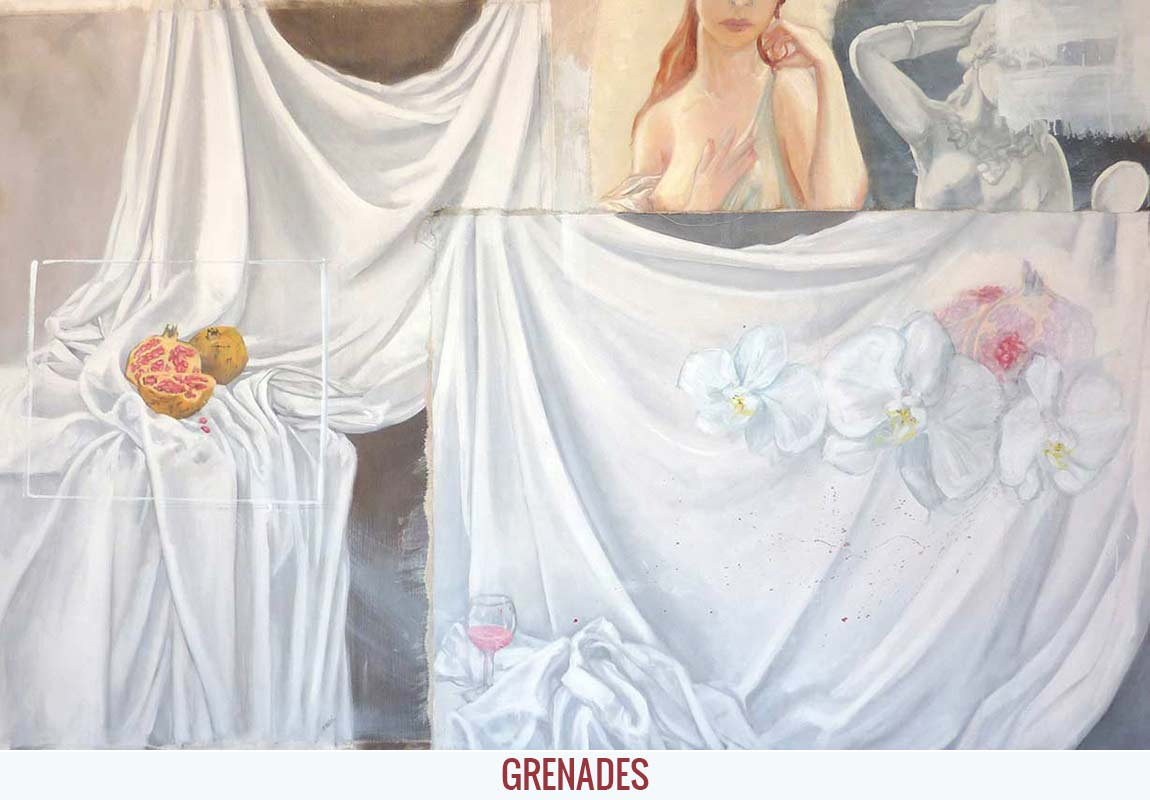 Grenades, Orson Buch's oil on canvas