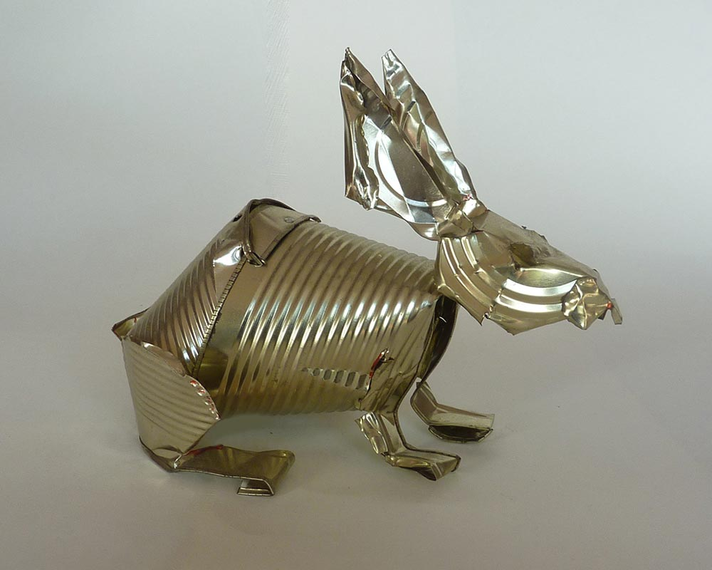 Rabbit - Orson Buch tin can sculpture