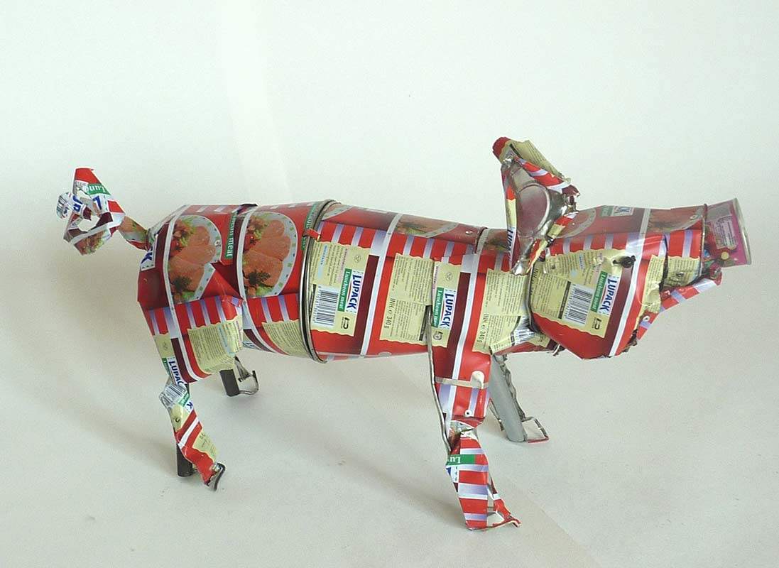 Pig - Orson Buch tin can sculpture