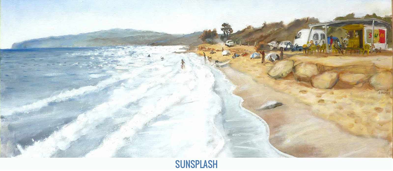 Sunsplah, Orson Buch's oil on canvas