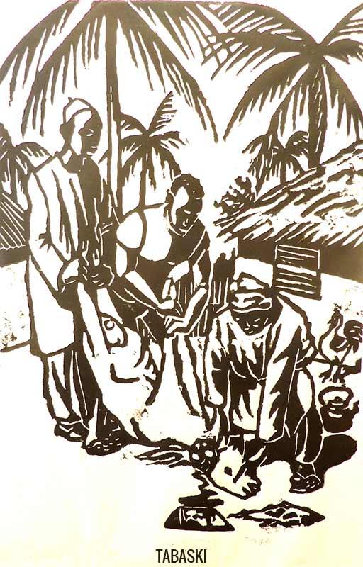 Tabaski - Woodcut - Orson Buch