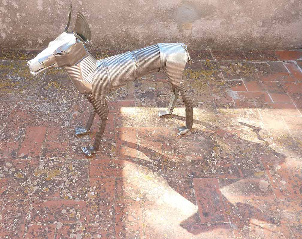 Study Straydog - Orson Buch tin can sculpture