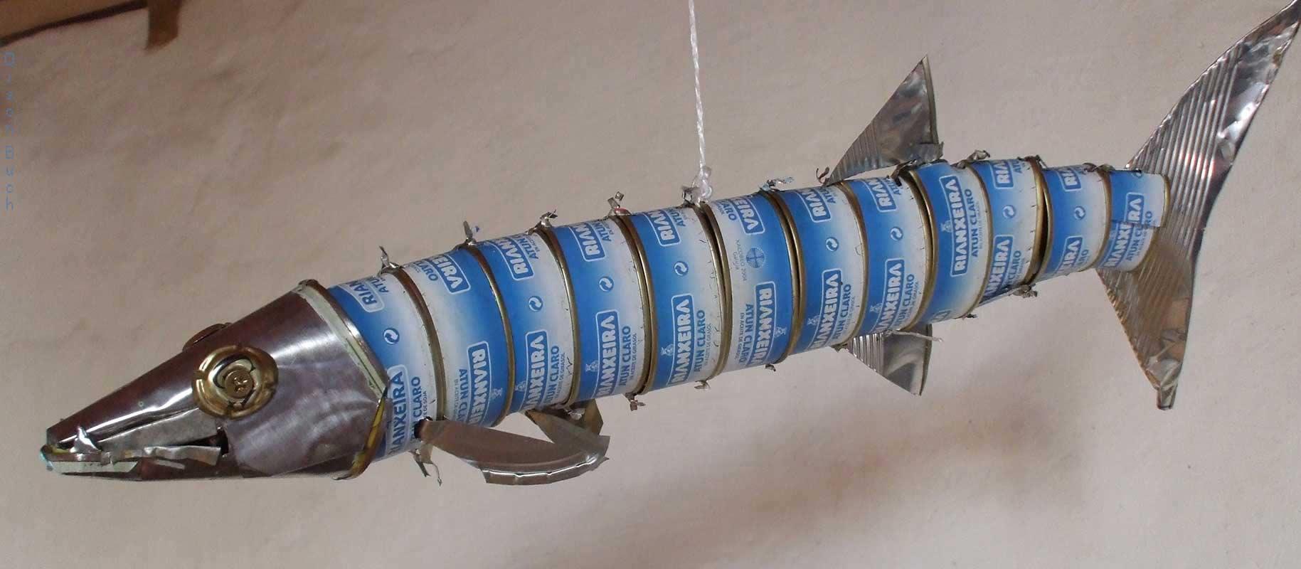 Orson Buch's tin can sculpture