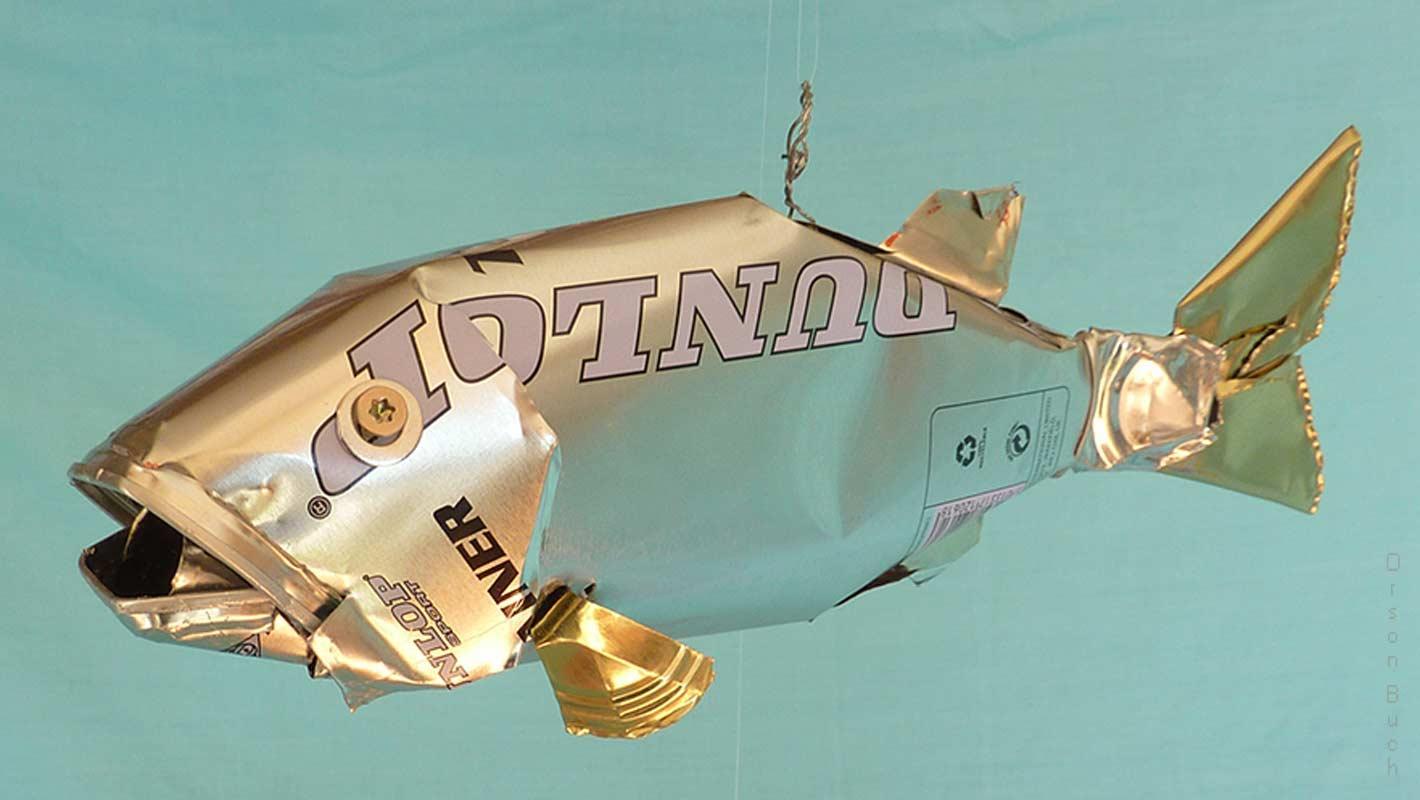Dunlop snapper Orson Buch's tin can sculpture
