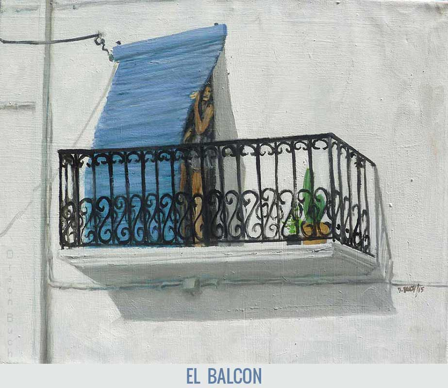 El balcon, Orson Buch's oil on canvas