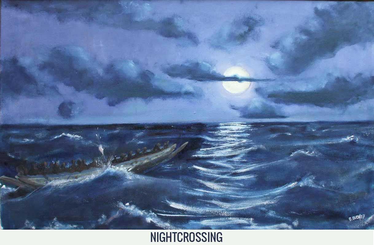 Nightcrossing, Orson Buch's oil on canvas
