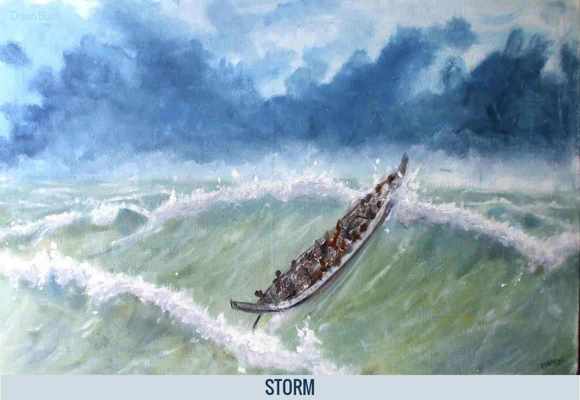 Storm, Orson Buch's oil on canvas