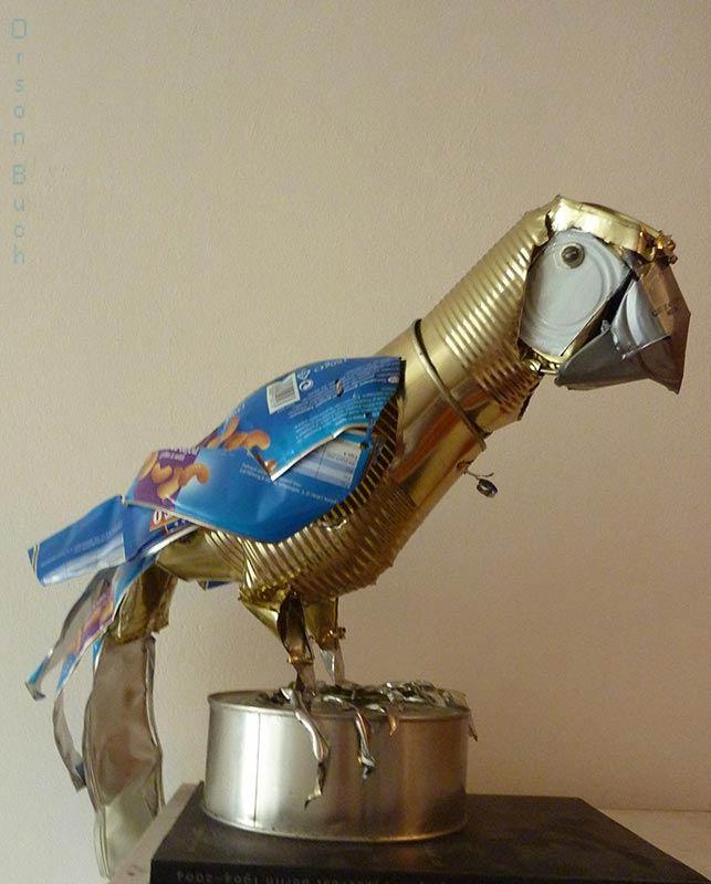 Blue Parrot, contemporary metal bird - Orson Buch